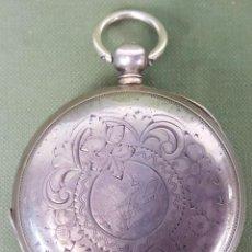 Relojes de bolsillo: RELOJ DE BOLSILLO. F. BRUQUETAS. ANCRE LIGNE DROITE. CAJA DE PLATA. SIGLO XIX-XX. Lote 118896155