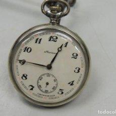 Relojes de bolsillo: ANTIGUO RELOJ DE CUERDA MARCA MOLNIA REVISADO FUNCIONA TAPA ORIGINAL BARCO BUEN ESTADO RUSIA USSR. Lote 131539345