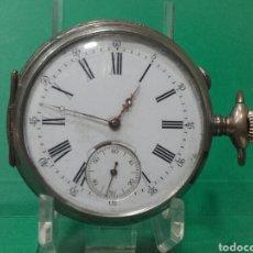 Relojes de bolsillo: RELOJ DE BOLSILLO CON SEGUNDERO, MIDE 5,5 CM, COMO SE VE EN LA FOTO. Lote 119220880