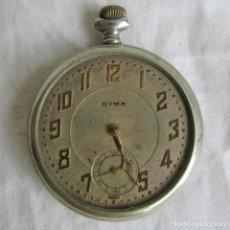 Relojes de bolsillo: RELOJ CYMA DE BOLSILLO PARA RESTAURAR O PIEZAS. Lote 119340783