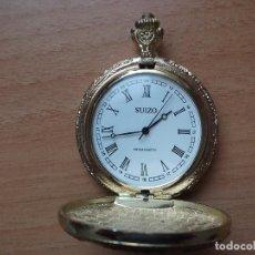 Relojes de bolsillo: MARCA SUIZO RELOJ DE BOLSILLO CARGA MANUAL FUNCIONA MUY BIEN COLOR DORADO ( FUNCIONA A CUERDA). Lote 119505407