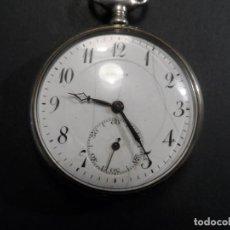 Relojes de bolsillo: RELOJ DE BOLSILLO MARCA LAVINA. EN ALPACA. RESTAURADO. PP SIGLO XX. Lote 119553067