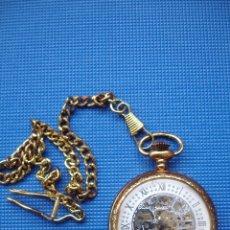Relojes de bolsillo: RELOJ DE BOLSILLO CON MAQUINARIA VISTA. Lote 119581567
