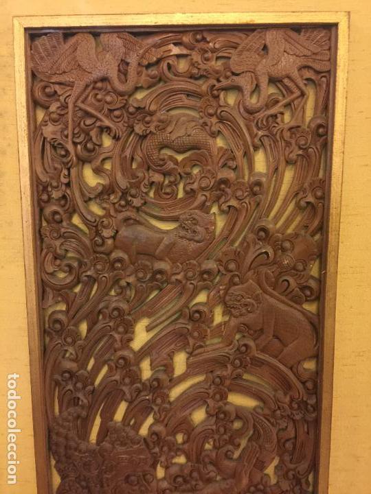 Relojes de bolsillo: Antigua Talla de madera con deidades de gran tamaño, mas de metro y medio. Ver fotos. Pieza unica - Foto 3 - 119603643