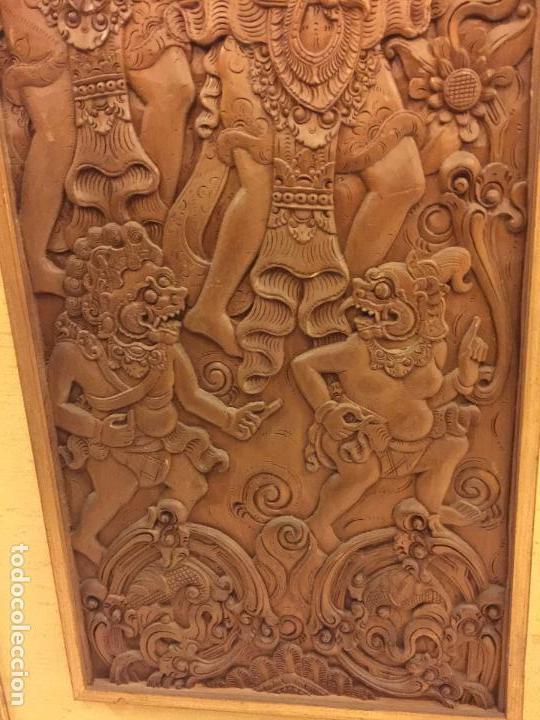 Relojes de bolsillo: Antigua Talla de madera con deidades de gran tamaño, mas de metro y medio. Ver fotos. Pieza unica - Foto 4 - 119603643