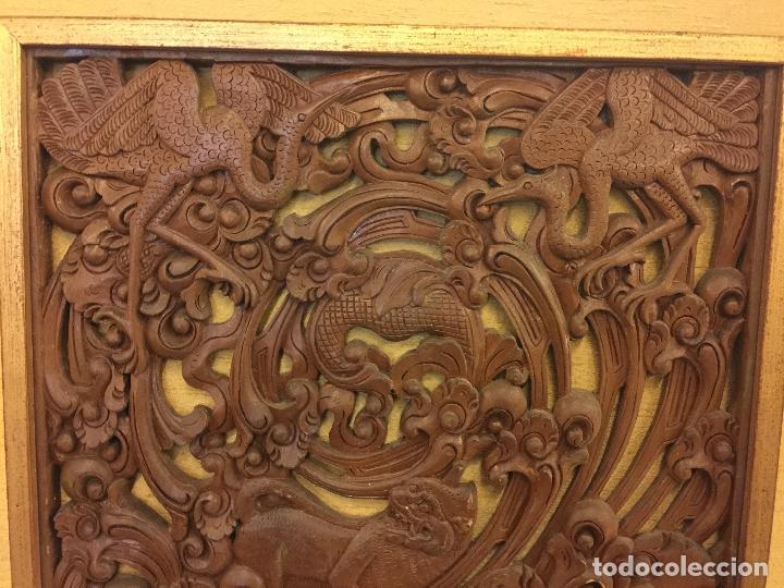 Relojes de bolsillo: Antigua Talla de madera con deidades de gran tamaño, mas de metro y medio. Ver fotos. Pieza unica - Foto 5 - 119603643
