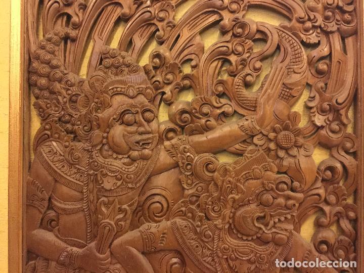 Relojes de bolsillo: Antigua Talla de madera con deidades de gran tamaño, mas de metro y medio. Ver fotos. Pieza unica - Foto 8 - 119603643