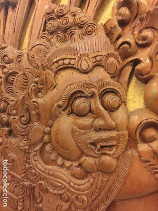 Relojes de bolsillo: Antigua Talla de madera con deidades de gran tamaño, mas de metro y medio. Ver fotos. Pieza unica - Foto 13 - 119603643