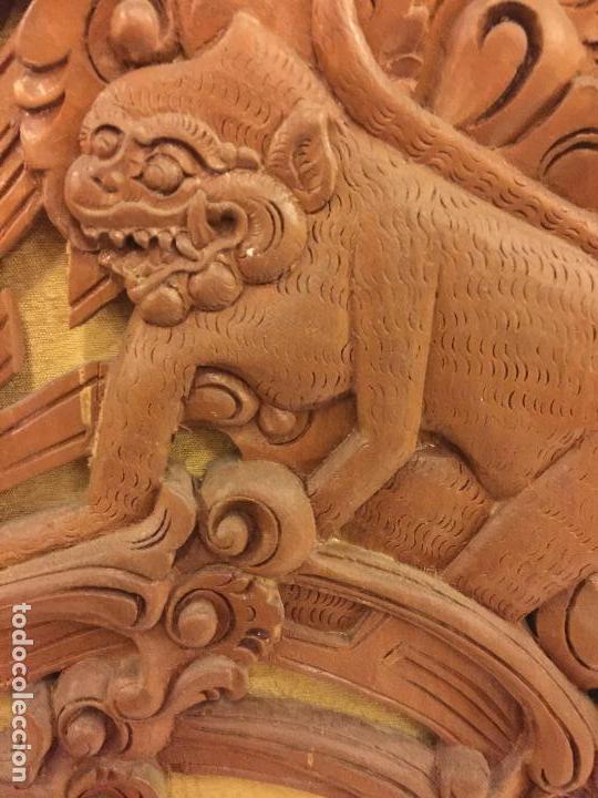 Relojes de bolsillo: Antigua Talla de madera con deidades de gran tamaño, mas de metro y medio. Ver fotos. Pieza unica - Foto 16 - 119603643