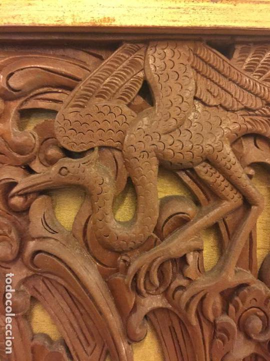 Relojes de bolsillo: Antigua Talla de madera con deidades de gran tamaño, mas de metro y medio. Ver fotos. Pieza unica - Foto 18 - 119603643