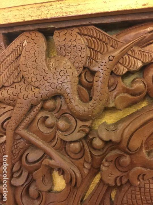 Relojes de bolsillo: Antigua Talla de madera con deidades de gran tamaño, mas de metro y medio. Ver fotos. Pieza unica - Foto 19 - 119603643