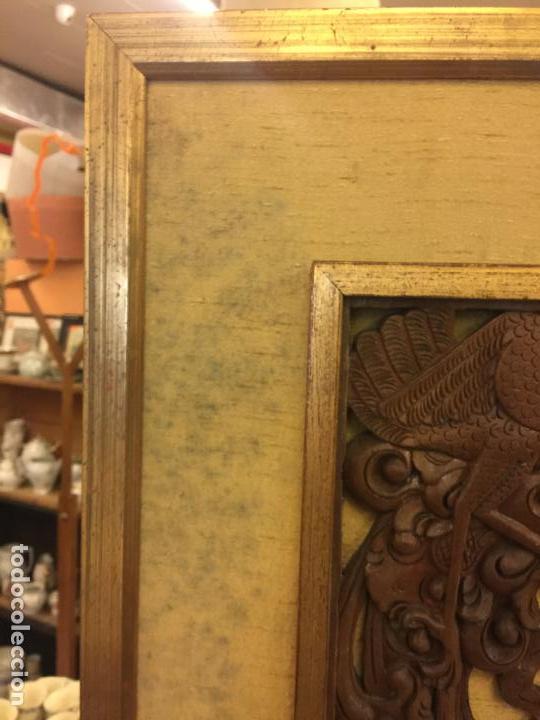 Relojes de bolsillo: Antigua Talla de madera con deidades de gran tamaño, mas de metro y medio. Ver fotos. Pieza unica - Foto 21 - 119603643