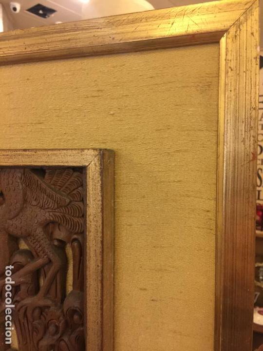 Relojes de bolsillo: Antigua Talla de madera con deidades de gran tamaño, mas de metro y medio. Ver fotos. Pieza unica - Foto 22 - 119603643