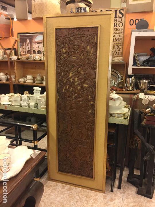 Relojes de bolsillo: Antigua Talla de madera con deidades de gran tamaño, mas de metro y medio. Ver fotos. Pieza unica - Foto 23 - 119603643