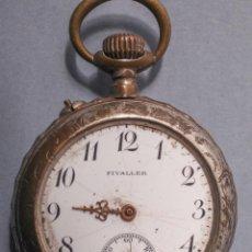 Relojes de bolsillo: CURIOSO RELOJ DE BOLSILLO FIVALLER- ESFERA ESMALTADA. VER FOTOS Y DESCRIPCION. Lote 119634295