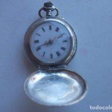 Relojes de bolsillo: RELOJ BOLSILLO PLATA PUNZONADA REMONTOIR TAMAÑO PEQUEÑO DE DAMA EN MUY BUEN ESTADO 3 TAPAS,BARATO. Lote 119665919