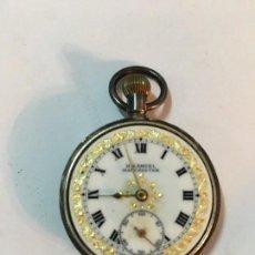 Relojes de bolsillo: RELOJ INGLES DE PLATA. Lote 120305343