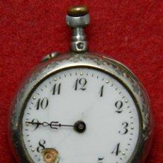 Relojes de bolsillo: PLATA - RELOJ MECANICO DE SEÑORA - TIPO LEPINE - P. 18 GRAMOS - DIA. 27 MM. Lote 120316327