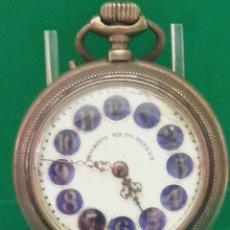 Relojes de bolsillo: RELOJ DE BOLSILLO ROSKOPF, NIETO PATENT. FUNCIONANDO. FALTAS EN LA ESFERA. BONITA TRASERA. MIDE 5,5.. Lote 120328868
