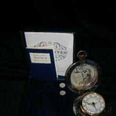 Relojes de bolsillo: RELOJ DESPERTADOR DE BOLSILLO DE CUARZO MARCA THE DALVEY EN ACERO EN SU CAJA MADE SCOTLAND. Lote 121338027