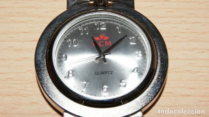 RELOJ DE BOLSILLO - CINTURÓN QUARTZ DETALLE DE CAJA DE AHORROS CCM CON FUNDA. PILA GASTADA. (Relojes - Bolsillo Carga Manual)