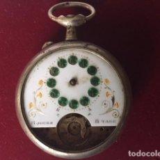 Relojes de bolsillo: RELOJ 8 DIAS GRANDE (49)NO FUNCIONA PARA DONANTE O REPARAR( PLATA). Lote 122000131