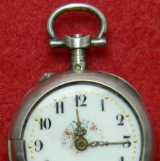 Relojes de bolsillo: PLATA .800 - RELOJ LEPINE DE SRA. - CON MARCAJES - 18 GRAMOS - 29 MM. Lote 122128263