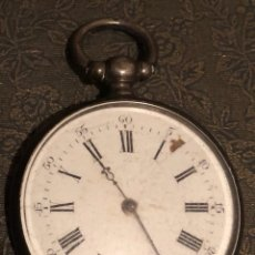 Relojes de bolsillo: RELOJ DE BOLSILLO DE PLATA, DE LLAVE. Lote 122195846