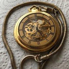 Relojes de bolsillo: RELOJ DE BOLSILLO CON LEONTINA. Lote 122214471