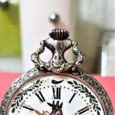 Relojes de bolsillo: RELOJ PORCELANA Y CUADRO ESMALTADO DE CAZA. EXCLUSIVO. SWISS. Lote 119554355