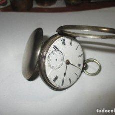 Relojes de bolsillo: RELOJ SEMICATALINO DE PLATA 50MM INGLES ,NO FUNCIONA PARA DONANTE O ARREGLO. Lote 146207628