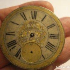 Relojes de bolsillo: BONITA ESFERA ISABELINA CON PARTE DE LA MAQUINA RELOJ DE BOLSILLO - SIGLO XIX - TENGO MAS EN VENTA. Lote 122629155