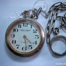 Relojes de bolsillo: RELOJ DE BOLSILLO DE CABALLERO MARCA CUERVO Y SOBRINO.CA6. Lote 122657503
