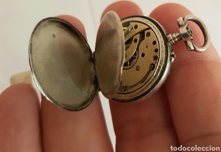 Relojes de bolsillo: ANTIGUO RELOJ DE BOLSILLO DE PLATA POR FAVOR LEER DESCRIPCIÓN - Foto 4 - 122672434