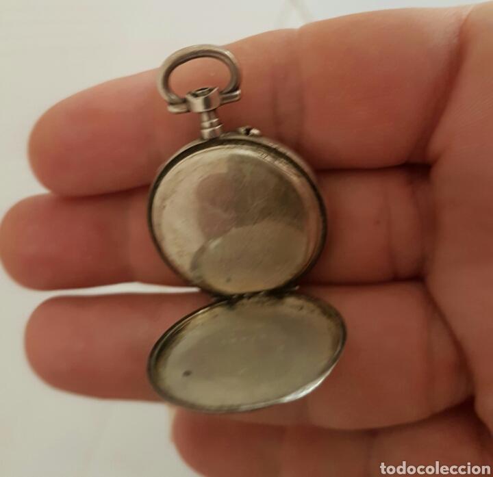 Relojes de bolsillo: ANTIGUO RELOJ DE BOLSILLO DE PLATA POR FAVOR LEER DESCRIPCIÓN - Foto 5 - 122672434