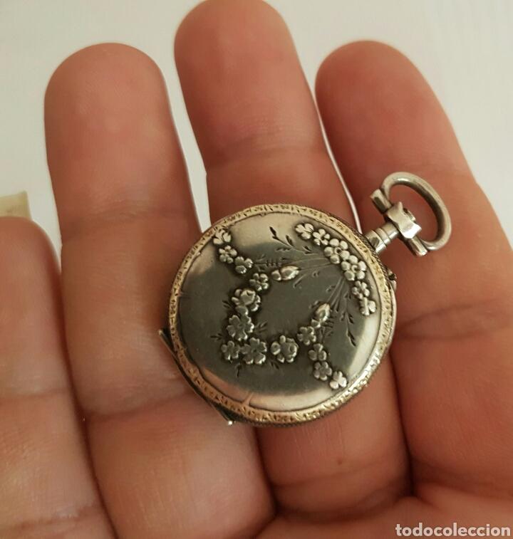 Relojes de bolsillo: ANTIGUO RELOJ DE BOLSILLO DE PLATA POR FAVOR LEER DESCRIPCIÓN - Foto 6 - 122672434