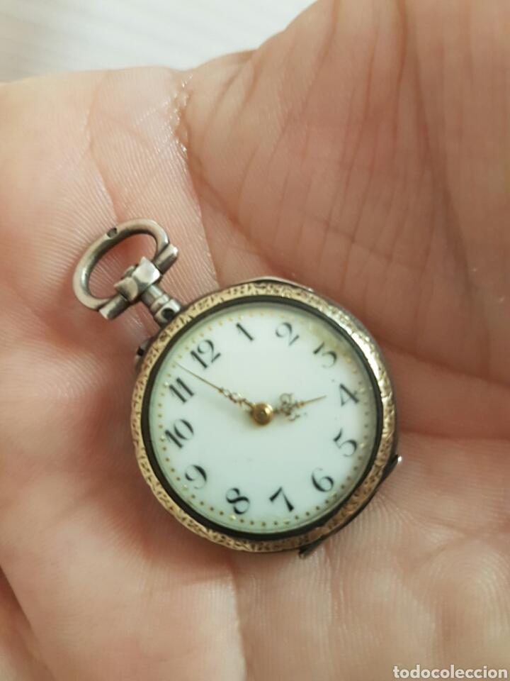 Relojes de bolsillo: ANTIGUO RELOJ DE BOLSILLO DE PLATA POR FAVOR LEER DESCRIPCIÓN - Foto 7 - 122672434