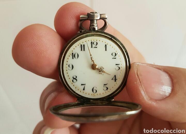 Relojes de bolsillo: ANTIGUO RELOJ DE BOLSILLO DE PLATA POR FAVOR LEER DESCRIPCIÓN - Foto 8 - 122672434