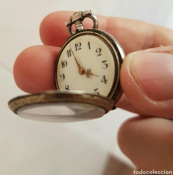 Relojes de bolsillo: ANTIGUO RELOJ DE BOLSILLO DE PLATA POR FAVOR LEER DESCRIPCIÓN - Foto 9 - 122672434