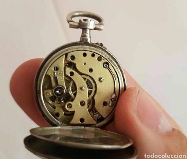 Relojes de bolsillo: ANTIGUO RELOJ DE BOLSILLO DE PLATA POR FAVOR LEER DESCRIPCIÓN - Foto 11 - 122672434