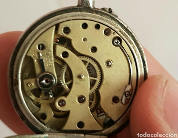 Relojes de bolsillo: ANTIGUO RELOJ DE BOLSILLO DE PLATA POR FAVOR LEER DESCRIPCIÓN - Foto 12 - 122672434