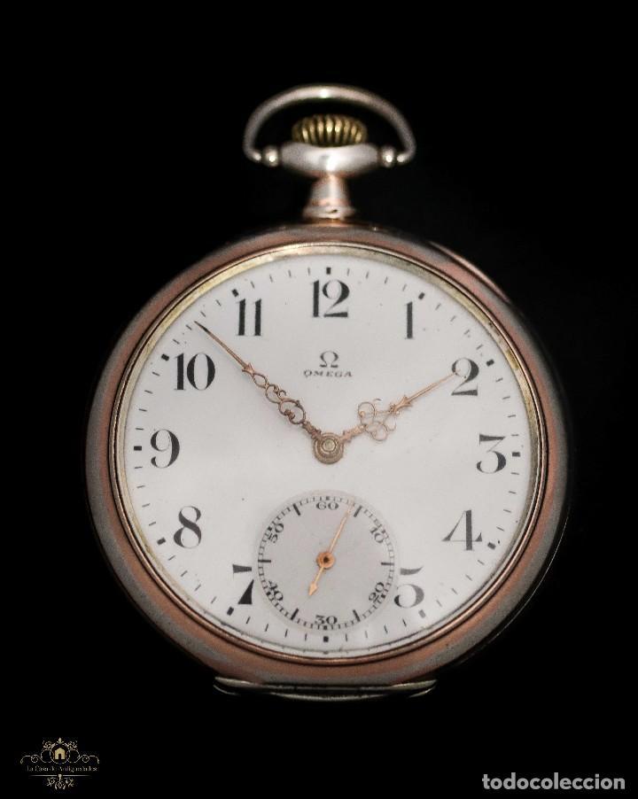 ELEGANTE RELOJ DE BOLSILLO, DE CUERDA MANUAL, MARCA OMEGA, EN EXCELENTE ESTADO Y FUNCIONANDO (Relojes - Bolsillo Carga Manual)