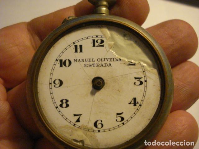 RELOJ DE BOLSILLO INCOMPLETO - SIGLO-XX - MANUEL OLIVEIRA ESTRADA PARA PIEZAS - TENGO MAS EN VENTA (Relojes - Bolsillo Carga Manual)