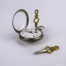Relojes de bolsillo: LOUVEAU,FRANCIA. RELOJ DE BOLSILLO LEPINE DE PLATA CATALINO- VERGE FUSEE - 1.878 TRABAJANDO 100%. Lote 123004107