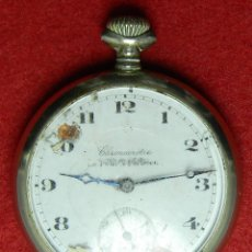 Relojes de bolsillo: PLATA 0.800 - CARGA MANUAL CABALLERO - LE PETIT PARISIEN - 91 GRAMOS - 51,15 MM - CRISTAL - 15 RUBIS. Lote 123042819
