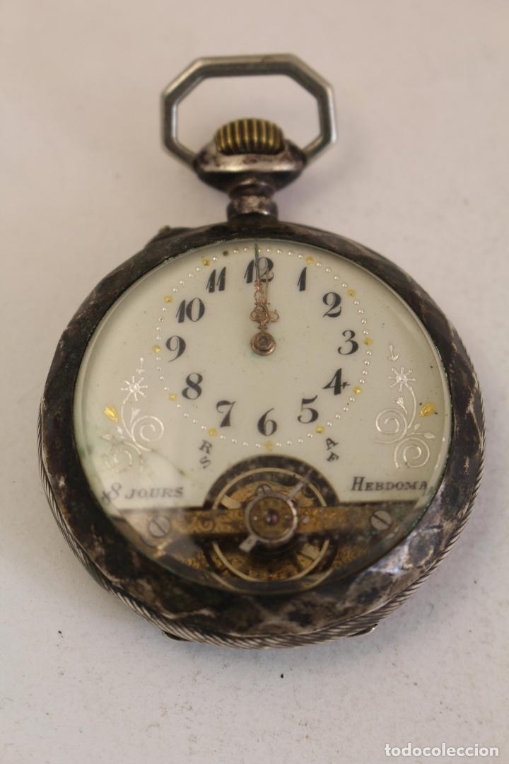 RELOJ DE BOLSILLO EN PLATA DE LEY 8 JOURS ESPIRAL BREGUET (Relojes - Bolsillo Carga Manual)