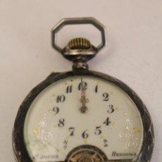 Relojes de bolsillo: RELOJ DE BOLSILLO EN PLATA DE LEY 8 JOURS ESPIRAL BREGUET. Lote 123534559