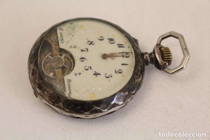 Relojes de bolsillo: reloj de bolsillo en plata de ley 8 jours espiral breguet - Foto 4 - 123534559