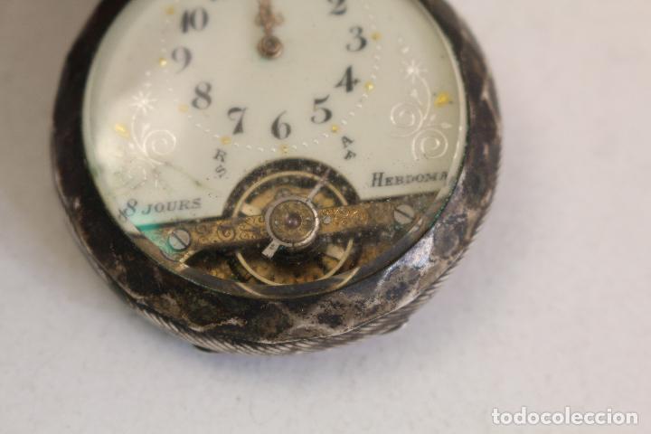 Relojes de bolsillo: reloj de bolsillo en plata de ley 8 jours espiral breguet - Foto 5 - 123534559