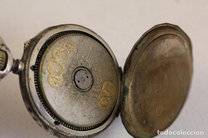 Relojes de bolsillo: reloj de bolsillo en plata de ley 8 jours espiral breguet - Foto 6 - 123534559